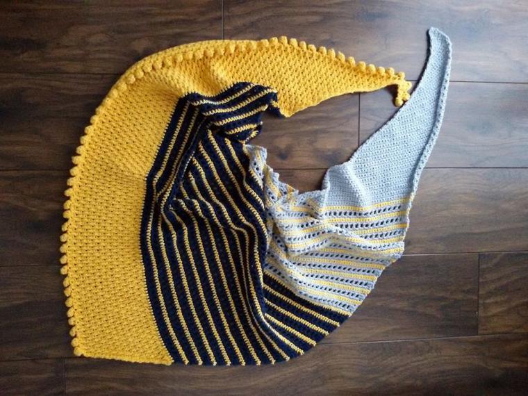 heklani šal u žutoj boji
